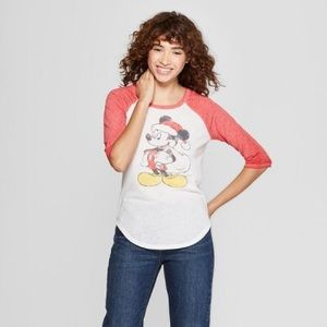 Women's Mickey Mouse 3/4 Sleeve Raglan Graphic Tee